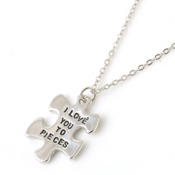 Jewelry Love You To Pieces Puzzle Necklace Nwot Poshmark